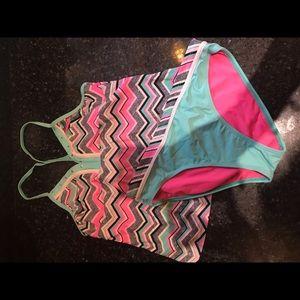 Chevron bathing suit set